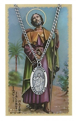 St. James Pendant and Prayer Card Set