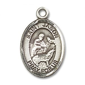 St. Jason Charm - Sterling Silver (#84612)