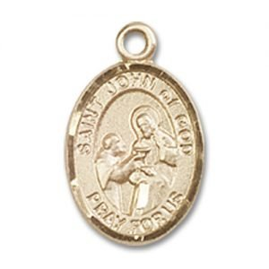 St. John of God Charm - 14 Karat Gold Filled (#84781)