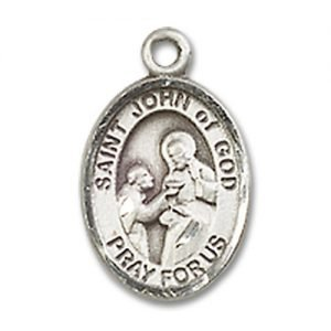 St. John of God Charm - Sterling Silver (#84783)