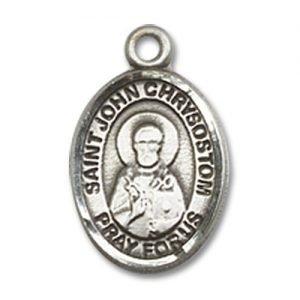 St. John Chrysostom Charm - Sterling Silver (#85387)