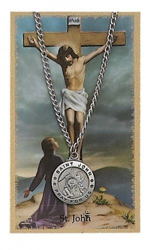 St. John  Pendant and Prayer Card Set