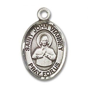 St. John Vianney Charm - Sterling Silver (#85199)