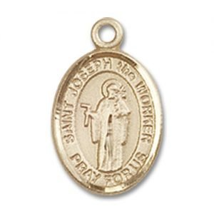 St. Joseph the Worker Charm - 14 Karat Gold Filled (#85057)