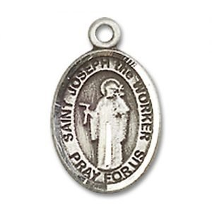 St. Joseph the Worker Charm - Sterling Silver (#85059)
