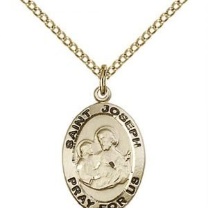 St. Joseph Medal - 14 Karat Gold Filled - Medium