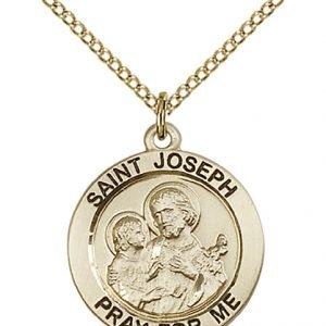 St. Joseph Medal - 14 Karat Gold Filled - Medium