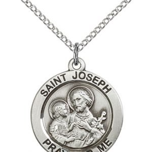 St. Joseph Medal - Sterling Silver - Medium