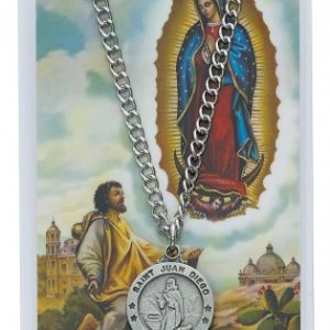 St. Juan Diego Pendant and Prayer Card Set
