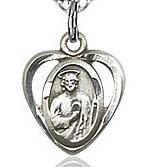 St. Jude Charm - Sterling Silver (#84441)