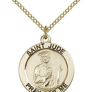 St. Jude Medal - 14 Karat Gold Filled - Medium