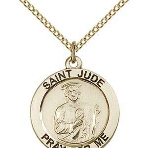 St. Jude Medal - 14 Karat Gold Filled - Medium