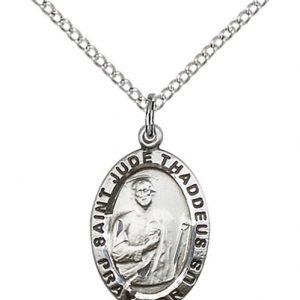 St. Jude Medal - Sterling Silver - Medium