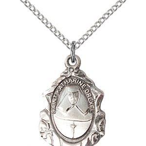 St. Katharine Drexel Medal - Sterling Silver - Medium