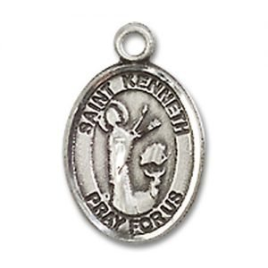 St. Kenneth Charm - Sterling Silver (#85327)