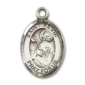 St. Kevin Charm - Sterling Silver (#84645)