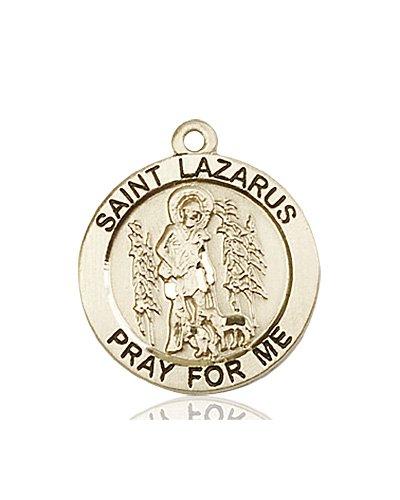 6448bcae4bc St Lazarus Medal - 14 KT Gold - Medium, Engravable - Catholic Saint ...