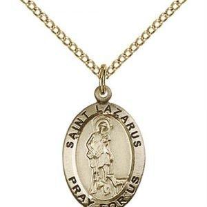 St. Lazarus Medal - 14 Karat Gold Filled - Medium