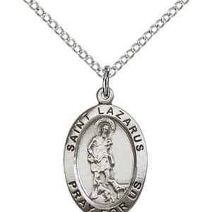St. Lazarus Medal - Sterling Silver - Medium