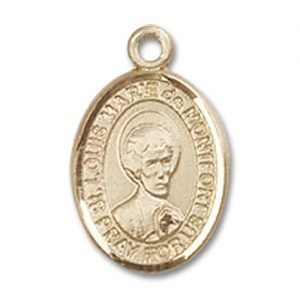 St. Louis Marie De Montfort Charm - 14 Karat Gold Filled (#85319)