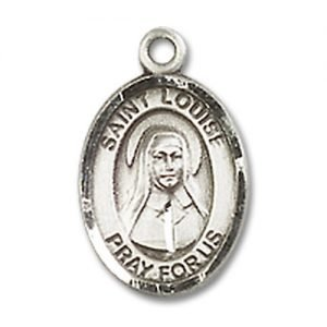 St. Louise De Marillac Charm - Sterling Silver (#M0018)