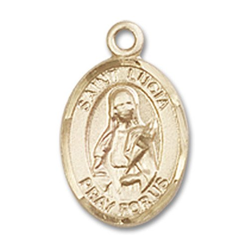 St. Lucia of Syracuse Charm - 14 Karat Gold Filled (#84652)