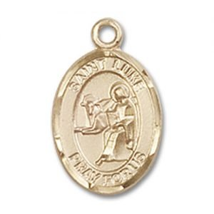 St. Luke the Apostle Charm - 14 Karat Gold Filled (#84661)