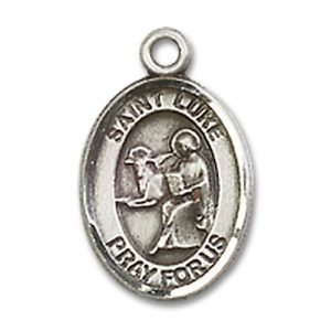 St. Luke the Apostle Charm - Sterling Silver (#84663)