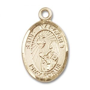 St. Margaret Mary Alacoque Charm - 14 Karat Gold Filled (#84673)