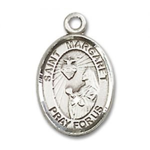 St. Margaret Mary Alacoque Charm - Sterling Silver (#84675)