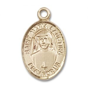 St. Maria Faustina Charm - 14 Karat Gold Filled (#84664)