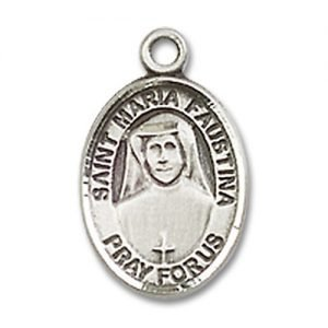 St. Maria Faustina Charm - Sterling Silver (#84666)