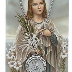 St. Maria Goretti Pendant and Prayer Card Set