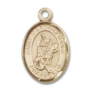St. Martin of Tours Charm - 14 Karat Gold Filled (#85009)