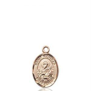 St. Meinrad of Einsideln Charm - 14 KT Gold (#85251)