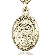 St. Michael the Archangel Charm - Gold Filled