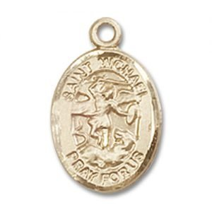 St. Michael the Archangel Charm -Gold Filled