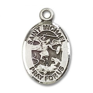 St. Michael the Archangel Charm - Sterling Silver (#M0023)