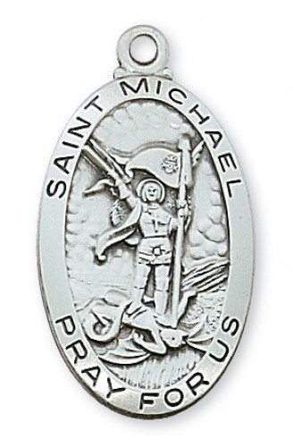 St. Michael Medal in Sterling Silver - Police