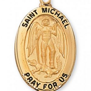 St. Michael Medal in Gold Plated Sterling Silver