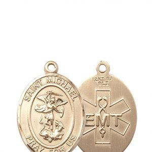 St. Michael / Emt Medal - 14 KT Gold - Medium (#83497)