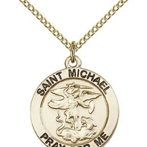 St. Michael the Archangel Medal - 14 Karat Gold Filled - Medium