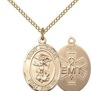 St. Michael / Emt Medal - Gold Filled - Medium (#83495)