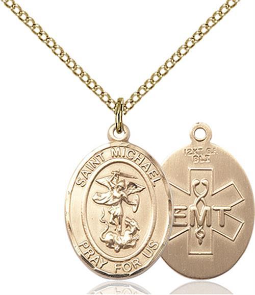 St. Michael / Emt Medal - Gold Filled - Medium (#83495)