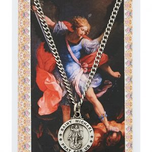 St Michael Pendant and Prayer Card Set