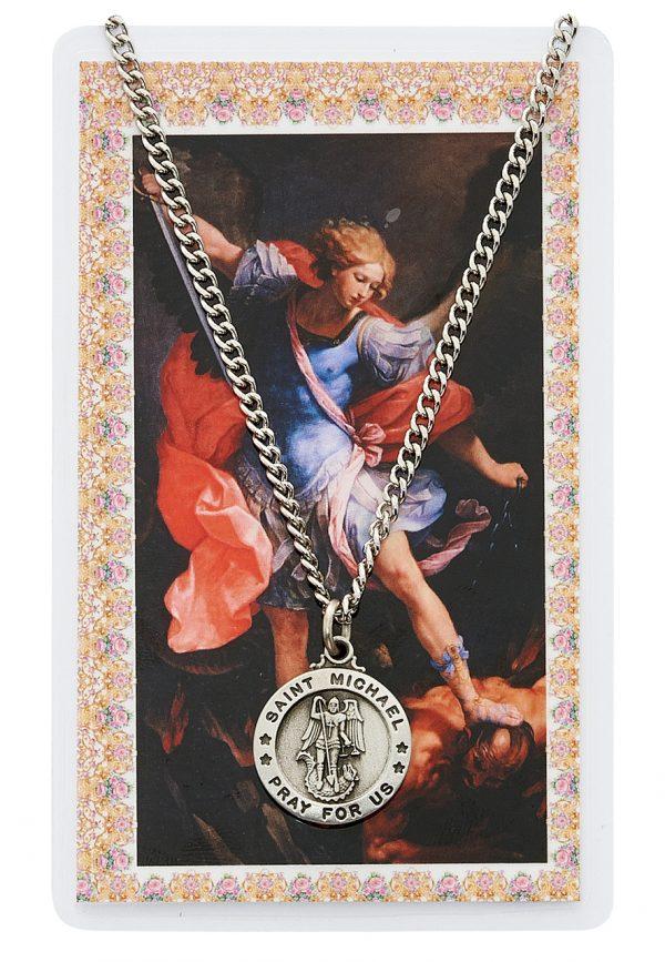 St Michael Pendant and Prayer Card Set
