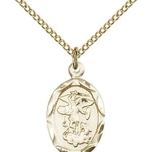 Gold Filled St. Michael the Archangel Necklace #87073