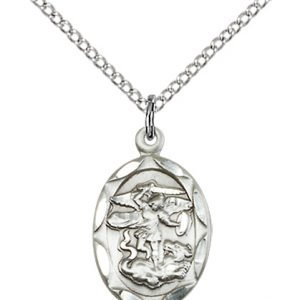 Sterling Silver St. Michael the Archangel Necklace #87076