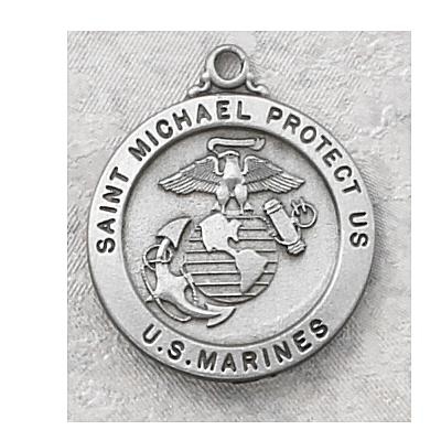 St. Michael the Archangel Pewter Marine Medal