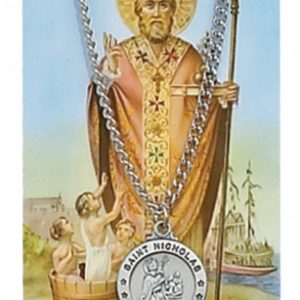 St. Nicholas Pendant and Prayer Card Set